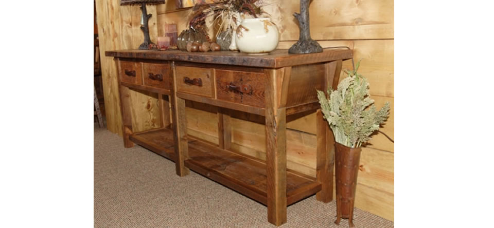 Merveilleux Barnwood Buffet U0026 Sofa Tables